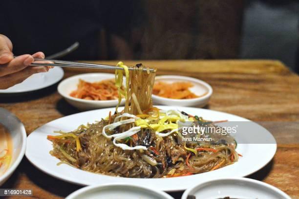 Japchae - Korean Stir Fry Glass Noodle