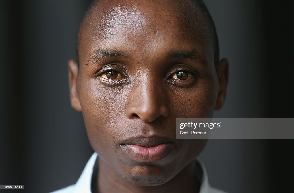 Japhet Korir of Kenya poses during the John Landy Lunch on April 5, 2013 in Melbourne, Australia. Japhet Korir will compete in the Qantas Melbourne World Challenge.