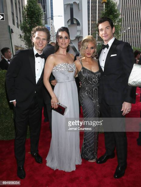 Japhy Weideman Stephanie J Block Orfeh and Andy Karl attend the 71st Annual Tony Awards at Radio City Music Hall on June 11 2017 in New York City
