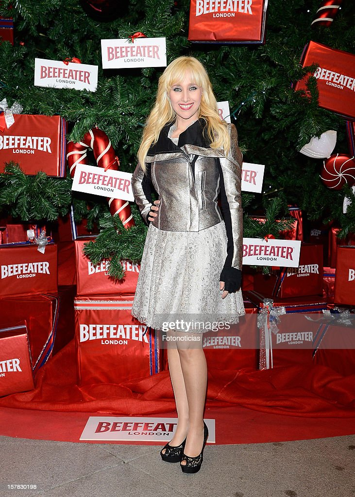 Jaqueline Larrosa attends the inauguration of Beefeater London Market at the Palacio de Cibeles on December 6, 2012 in Madrid, Spain.