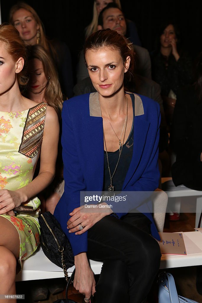 Jaquetta Wheeler attends the Matthew Williamson show during London Fashion Week Fall/Winter 2013/14 on February 17, 2013 in London, England.