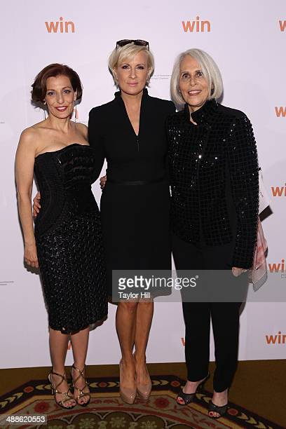 Jaqui Lividini Mika Brzezinski and Bonnie Stone attend the Way To Win Dinner 2014 at The Waldorf=Astoria on May 6 2014 in New York City
