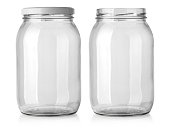jar glass isolated on white