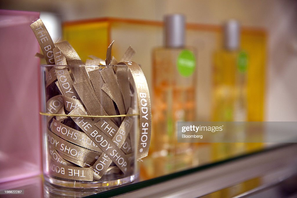 A jar of Body Shop-branded testers, used for Parfum, are seen on display at a store in Paris, France, on Wednesday, Nov. 21, 2012. Body Shop International Plc Chief Executive Officer Sophie Gasperment has introduced organic lines and updated products like Hemp Hand Protector with Community Fair Trade ingredients after L'Oreal, the world's largest maker of cosmetics, bought the company in 2006. Photographer: Balint Porneczi/Bloomberg via Getty Images