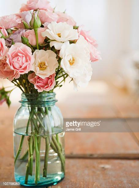Jar of flowers