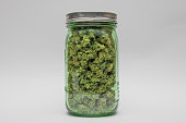A jar of high grade medical marijuana