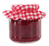 This is a jar of homemade beet root preserved.