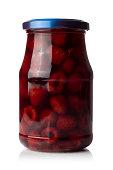 Jar of raspberrys