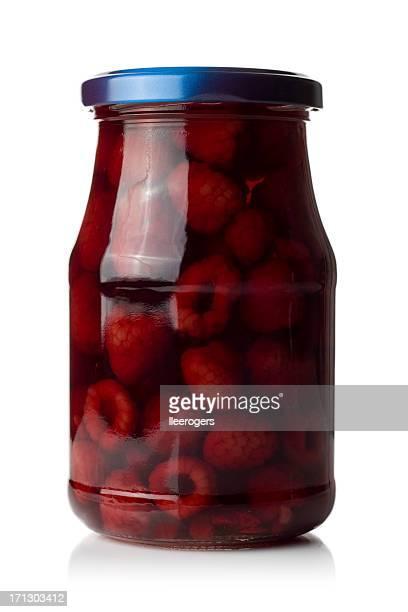 Glas von raspberrys