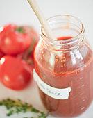 Jar of tomato sauce