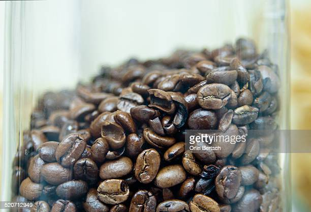Jar of Whole Coffee Beans