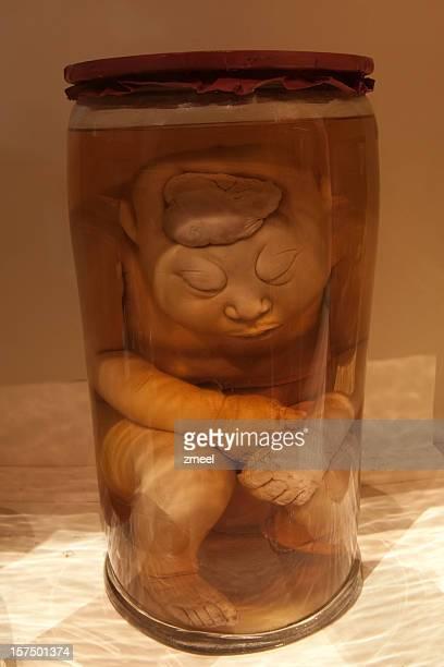 Jar with strange human being