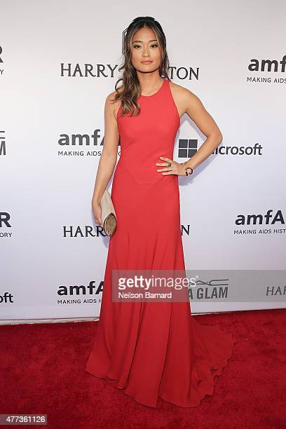 Jarah Mariano attends the 2015 amfAR Inspiration Gala New York at Spring Studios on June 16 2015 in New York City