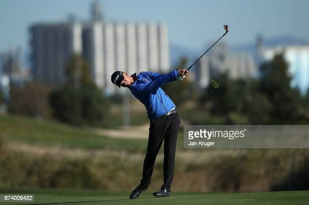 Jarand Ekeland Arnoy of Norway in action during round four of the European Tour Qualifying School Final Stage at Lumine Golf Club on November 14 2017...