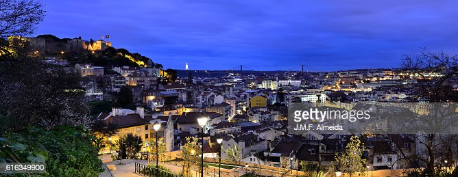 Jardim da Cerca Blue hour : Stock Photo