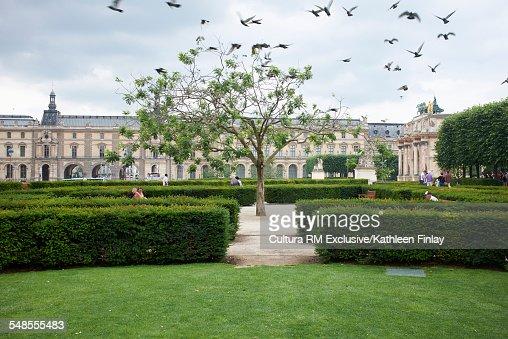 Jardins des Tuileries at the Louvres Museum, Paris, France