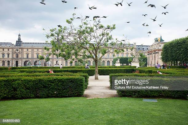 Jardins des Tuileries at the Louvres Museum, Paris, France