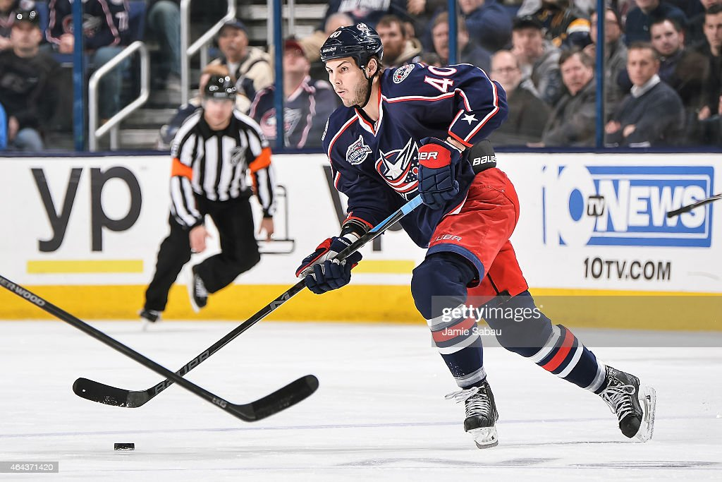 Jared Boll of the Columbus Blue Jackets skates against the Buffalo Sabres on February 24 2015 at Nationwide Arena in Columbus Ohio