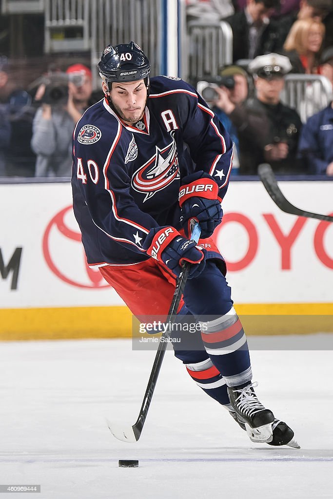 Jared Boll of the Columbus Blue Jackets skates against the Minnesota Wild on December 31 2014 at Nationwide Arena in Columbus Ohio Columbus defeated...