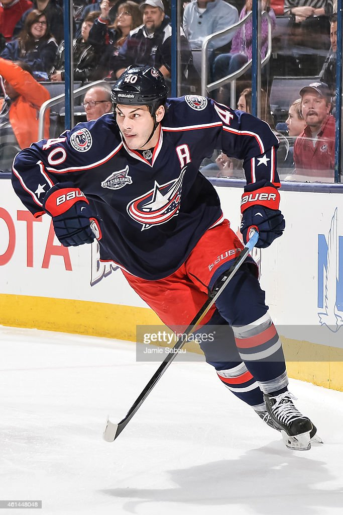 Jared Boll of the Columbus Blue Jackets skates against the New York Islanders on January 10 2015 at Nationwide Arena in Columbus Ohio