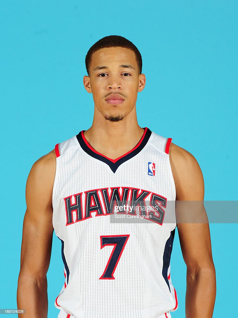 Jared Cunningham #7 of the Atlanta Hawks poses for a photograph during NBA Media Day at Philips Arena on September 30, 2013 in Atlanta, Georgia.