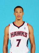 Jared Cunningham of the Atlanta Hawks poses for a photograph during NBA Media Day at Philips Arena on September 30 2013 in Atlanta Georgia NOTE TO...
