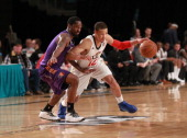 Jared Cunningham of the Bakersfield Jam dribbles the ball against the Iowa Energy during the 2014 NBA DLeague Showcase presented by Samsung Galaxy on...
