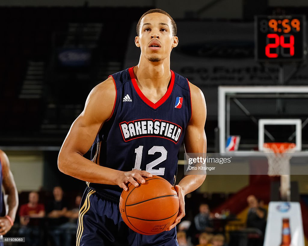 <a gi-track='captionPersonalityLinkClicked' href=/galleries/search?phrase=Jared+Cunningham&family=editorial&specificpeople=6549470 ng-click='$event.stopPropagation()'>Jared Cunningham</a> #12 of the Bakersfield Jam goes to the line for a free throw during an NBA D-League game against the Idaho Stampede on November 22, 2013 at CenturyLink Arena in Boise, Idaho. Cunningham was on assignment from the Atlanta Hawks.