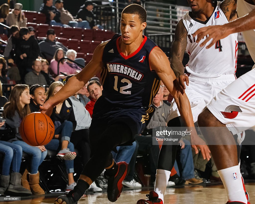 <a gi-track='captionPersonalityLinkClicked' href=/galleries/search?phrase=Jared+Cunningham&family=editorial&specificpeople=6549470 ng-click='$event.stopPropagation()'>Jared Cunningham</a> #12 of the Bakersfield Jam moves the ball during an NBA D-League game against the Idaho Stampede on November 22, 2013 at CenturyLink Arena in Boise, Idaho. Cunningham was on assignment from the Atlanta Hawks.