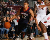 Jared Cunningham of the Bakersfield Jam moves the ball during an NBA DLeague game against the Idaho Stampede on November 22 2013 at CenturyLink Arena...