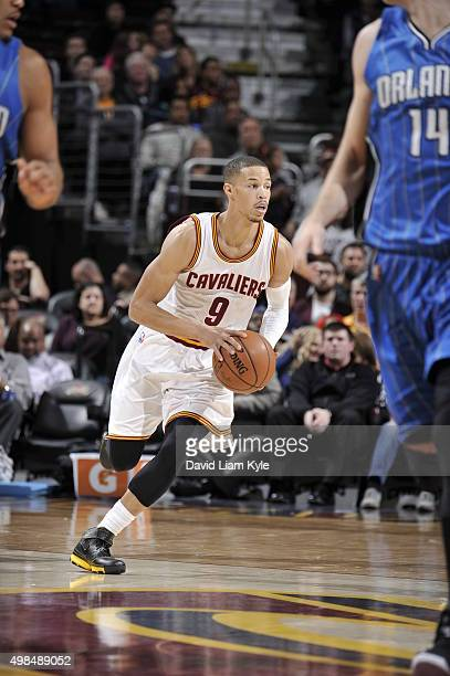 Jared Cunningham of the Cleveland Cavaliers drives to the basket against the Orlando Magic on November 23 2015 at Quicken Loans Arena in Cleveland...