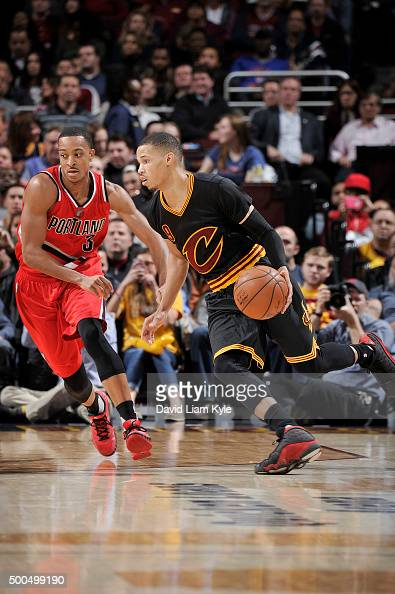 Jared Cunningham of the Cleveland Cavaliers drives to the basket during the game against the Portland Trail Blazers on December 8 2015 at Quicken...
