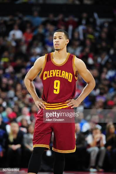 Jared Cunningham of the Cleveland Cavaliers during the game against the Detroit Pistons on January 29 2016 at The Palace of Auburn Hills in Auburn...