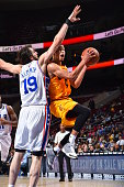 Jared Cunningham of the Cleveland Cavaliers goes up for the layup against the Philadelphia 76ers during a preseason game at the Wells Fargo Center on...