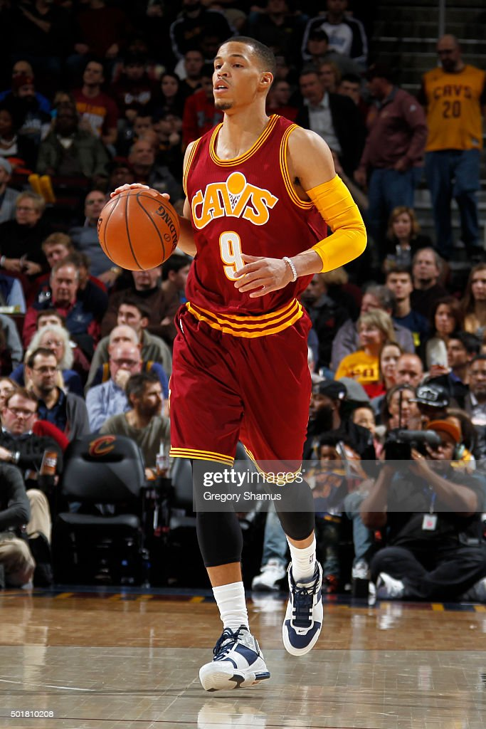 <a gi-track='captionPersonalityLinkClicked' href=/galleries/search?phrase=Jared+Cunningham&family=editorial&specificpeople=6549470 ng-click='$event.stopPropagation()'>Jared Cunningham</a> #9 of the Cleveland Cavaliers handles the ball against the Oklahoma City Thunder on December 17, 2015 at Quicken Loans Arena in Cleveland, Ohio.
