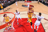 Jared Cunningham of the Cleveland Cavaliers shoots the ball against the Portland Trail Blazers on Decmeber 26 2015 at the Moda Center in Portland...