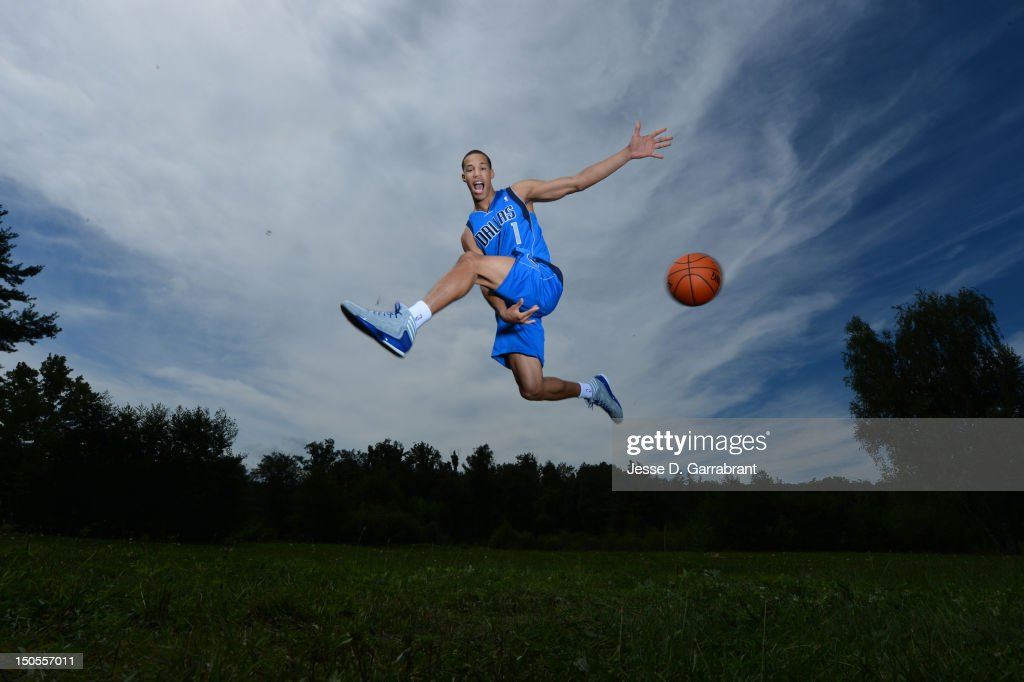 Jared Cunningham #1 of the Dallas Mavericks poses for a portrait during the 2012 NBA rookie photo shoot on August 21, 2012 at the MSG Training Facility in Tarrytown, New York.