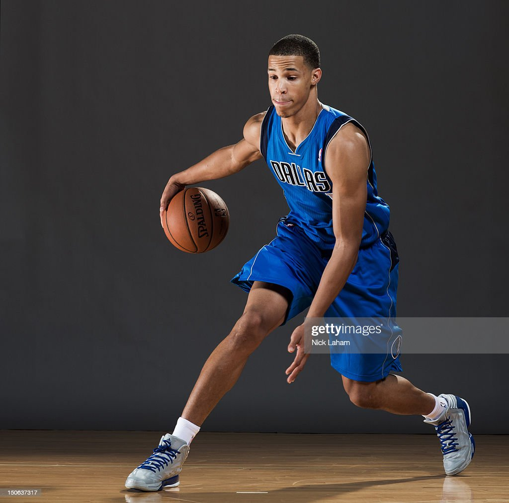 Jared Cunningham #1 of the Dallas Mavericks poses for a portrait during the 2012 NBA Rookie Photo Shoot at the MSG Training Center on August 21, 2012 in Tarrytown, New York.