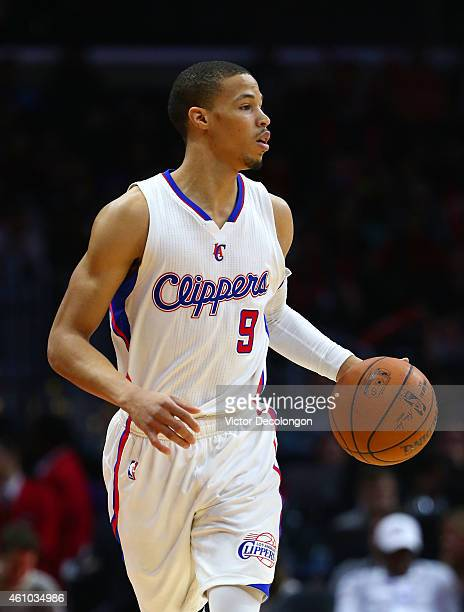 Jared Cunningham of the Los Angeles Clippers dribbles the ball during the NBA game against the Philadelphia 76ers at Staples Center on January 3 2015...