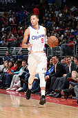 Jared Cunningham of the Los Angeles Clippers drives down the court against the Minnesota Timberwolves during the game on December 1 2014 at STAPLES...