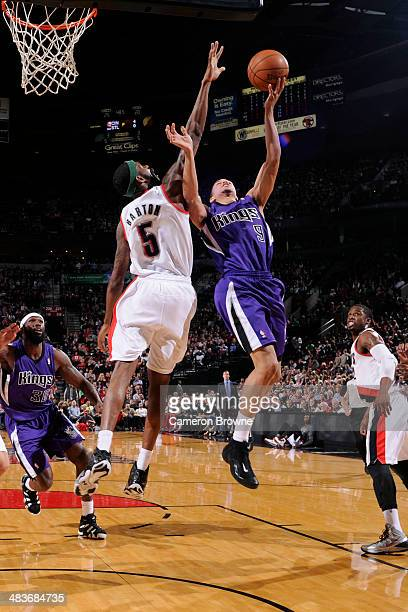 Jared Cunningham of the Sacramento Kings shoots against the Portland Trail Blazers on April 9 2014 at the Moda Center Arena in Portland Oregon NOTE...