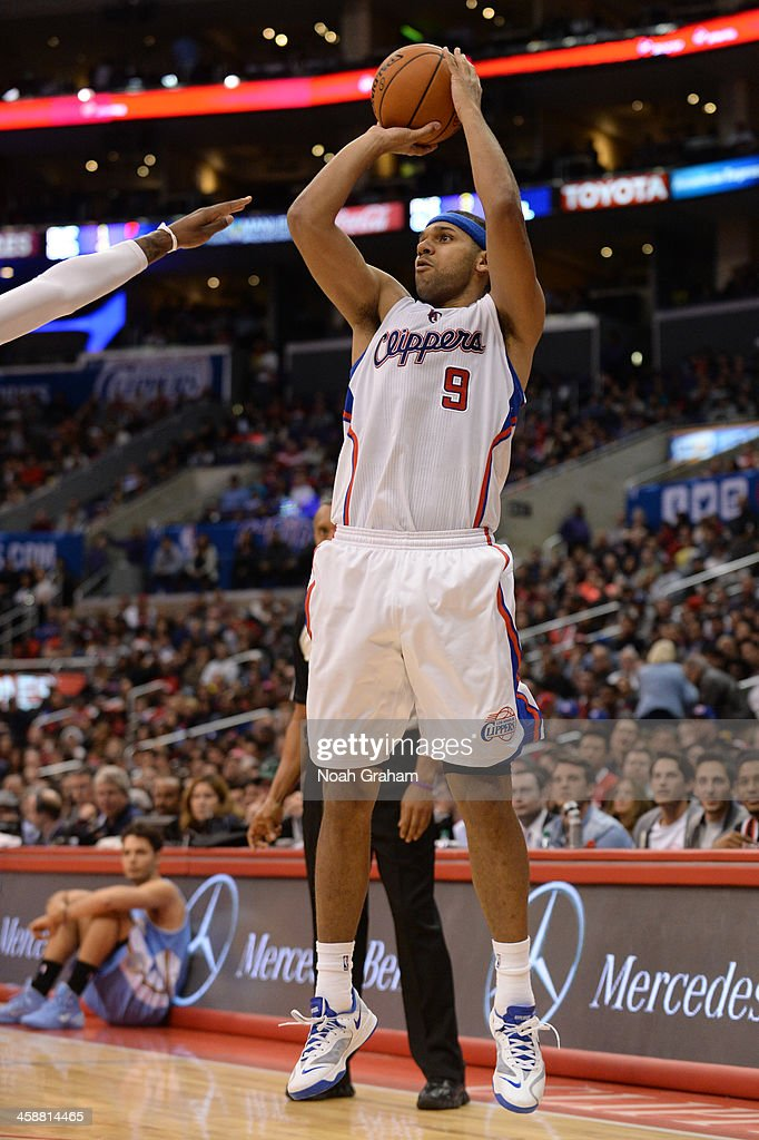 <a gi-track='captionPersonalityLinkClicked' href=/galleries/search?phrase=Jared+Dudley&family=editorial&specificpeople=224071 ng-click='$event.stopPropagation()'>Jared Dudley</a> #9 of the Los Angeles Clippers shoots during a game against the Denver Nuggets at STAPLES Center on December 21, 2013 in Los Angeles, California.