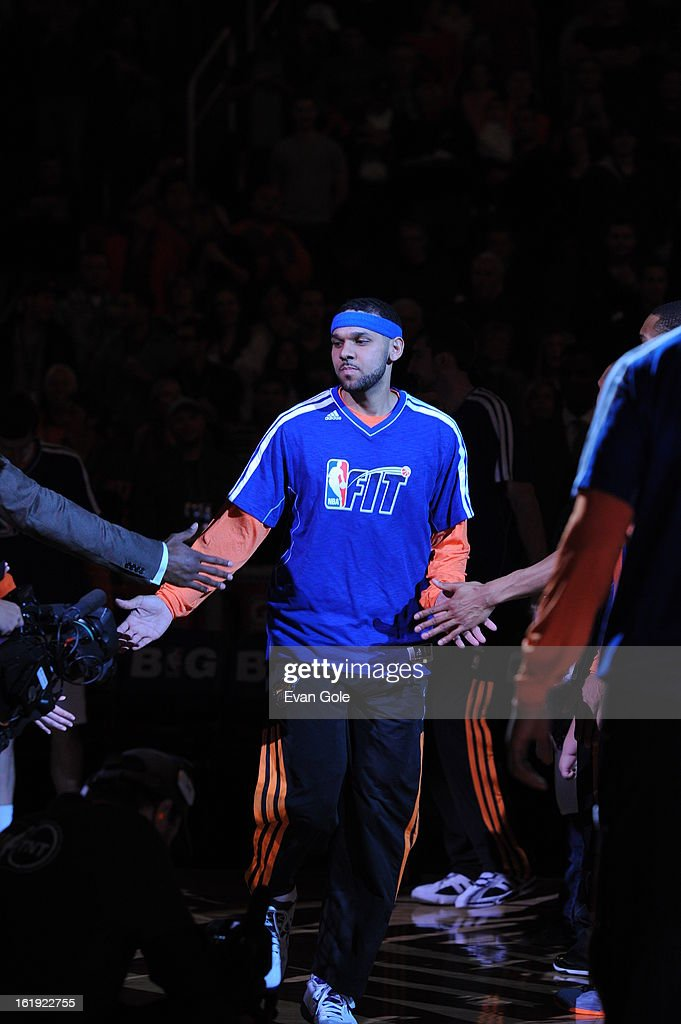 Jared Dudley #3 of the Phoenix Suns enters the court during opening announcements before the game against the Los Angeles Clippers at US Airways Center on January 24, 2013 in Phoenix, Arizona.