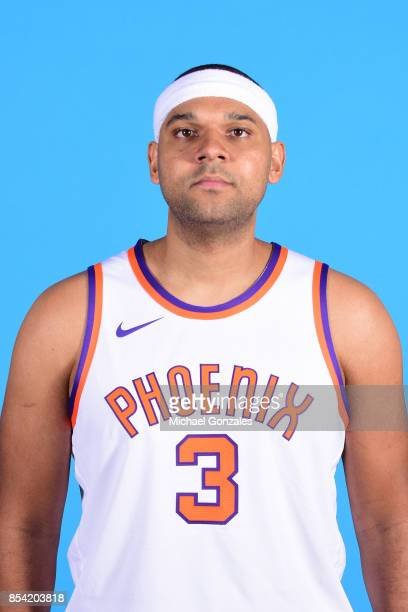Jared Dudley of the Phoenix Suns poses for a head shot during media day on September 25 2017 at the Talking Stick Resort Arena in Phoenix Arizona...