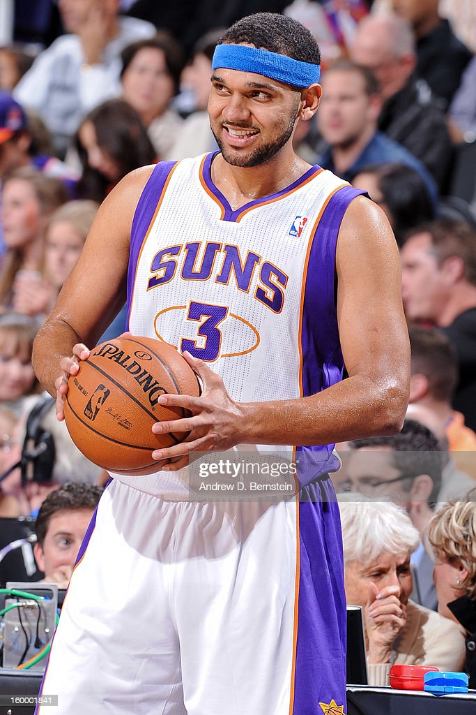 Jared Dudley #3 of the Phoenix Suns smiles during a game against the Los Angeles Clippers at US Airways Center on January 24, 2013 in Phoenix, Arizona.