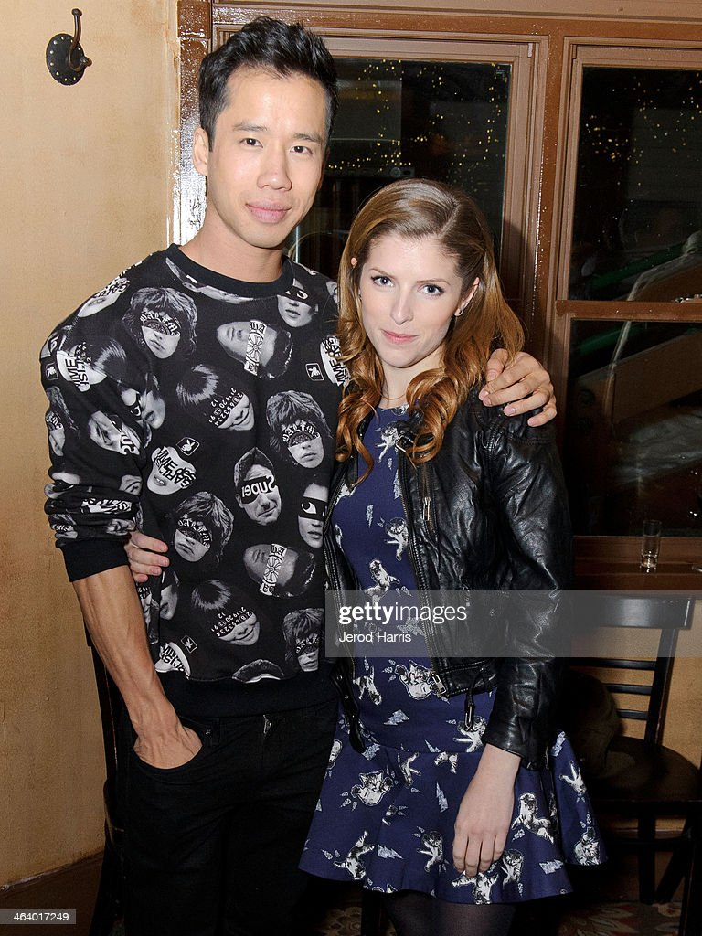 Jared Eng and <a gi-track='captionPersonalityLinkClicked' href=/galleries/search?phrase=Anna+Kendrick&family=editorial&specificpeople=3244893 ng-click='$event.stopPropagation()'>Anna Kendrick</a> attend 'Happy Christmas' Premiere Party - 2014 Park City on January 19, 2014 in Park City, Utah.