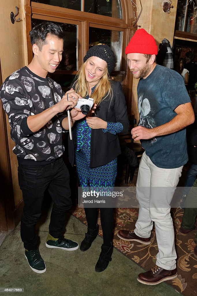 Jared Eng, <a gi-track='captionPersonalityLinkClicked' href=/galleries/search?phrase=Teresa+Palmer&family=editorial&specificpeople=612319 ng-click='$event.stopPropagation()'>Teresa Palmer</a> and Mark Webber attend 'Happy Christmas' Premiere Party - 2014 Park City on January 19, 2014 in Park City, Utah.