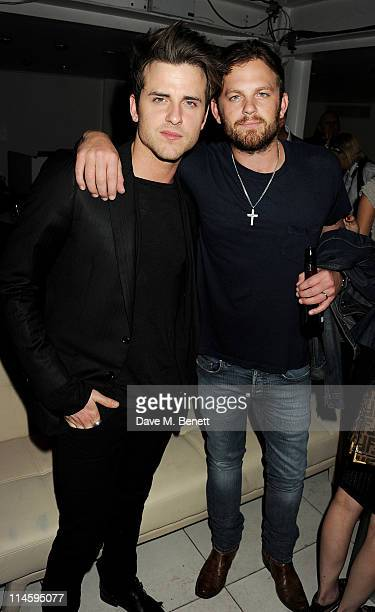 Jared Followill and Caleb Followill attend the launch of Le Crazy Horse cabaret show at Supperclub on May 24 2011 in London England