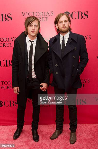 Jared Followill and Caleb Followill of Kings of Leon attend the Victoria's Secret fashion show at The Armory on November 19 2009 in New York City