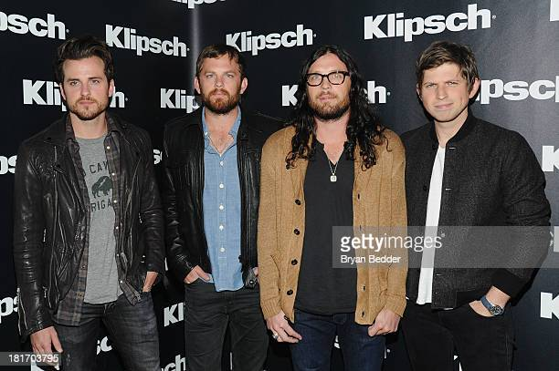 Jared Followill Caleb Followill Nathan Followill and Matthew Followill of Kings of Leon attend an event to announce new strategic partnership between...